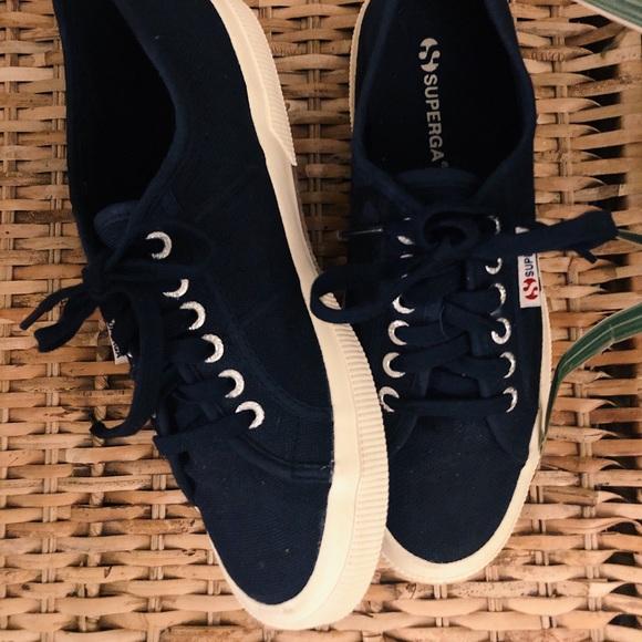 Superga Shoes - Superga Core Classic Sneakers Navy Blue